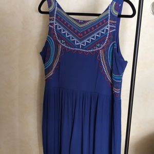 Xhilaration Aztec Embroidered Dress
